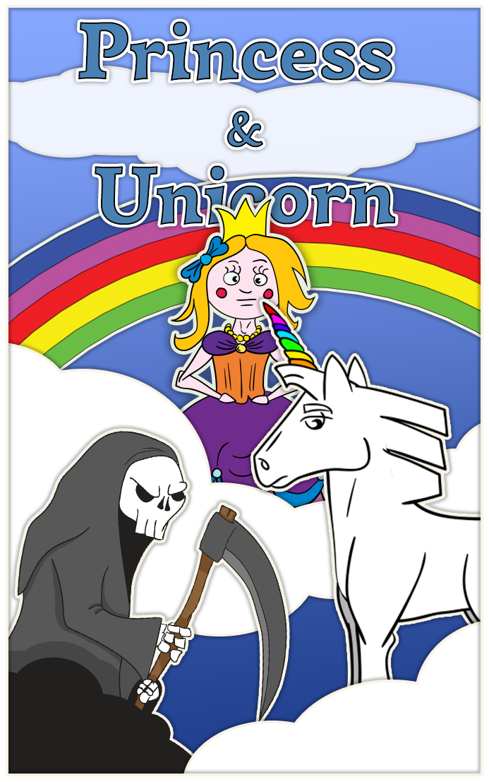 Princess And Unicorn Poster