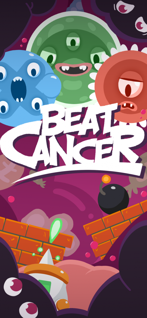Beat Cancer vertical banner