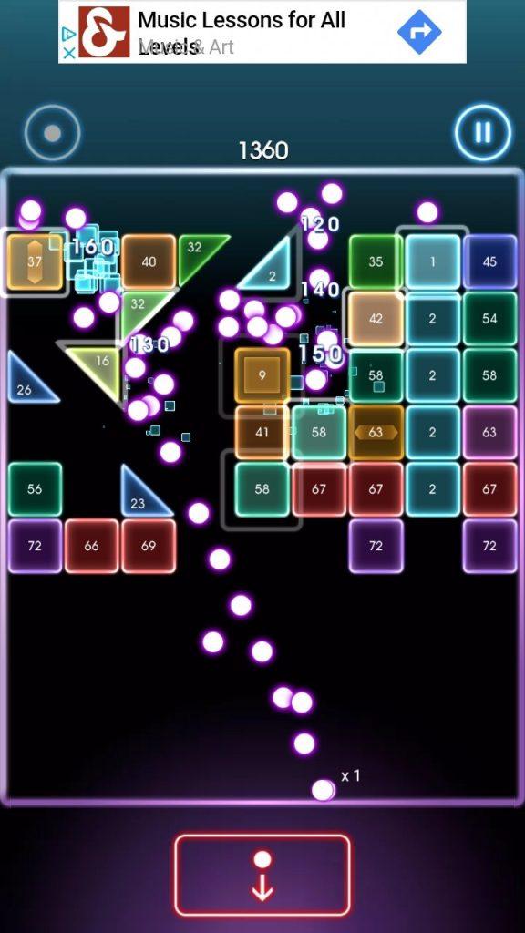 bricks breaker quest's graphics